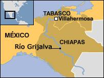 Mapa del área afectada