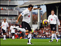 Simon Davies volleys Fulham into the lead