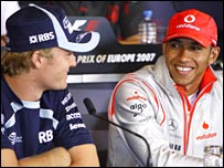 Nico Rosberg (left) is one of the drivers seen as a potential new team-mate for Hamilton.