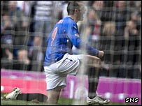 Kris Boyd celebrates his early goal against Inverness