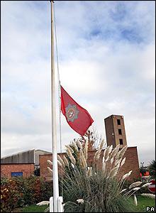 A flag at half mast