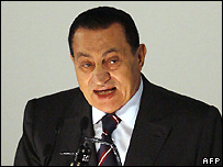 Egyptian President Hosni Mubarak at National Democratic Party congress - 3/11/2007