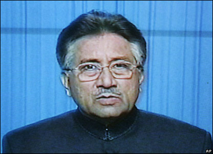 President Pervez Musharraf speaks on TV - 3/11/2007
