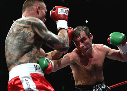 Joe Calzaghe (right) and Mikkel Kessler