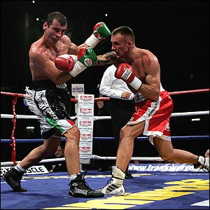 Joe Calzaghe (left) and Mikkel Kessler