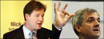 Nick Clegg and Chris Huhne