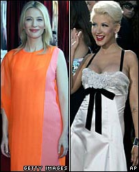 Cate Blanchett and Christina Aguilera