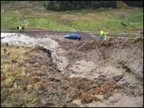 A83 landslip - picture from Traffic Scotland
