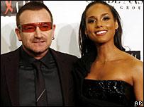 Bono and Alicia Keys