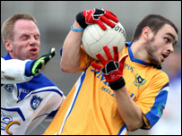 St Gall's Colin Brady (right) and Cavan Gaels' Anthony Forde