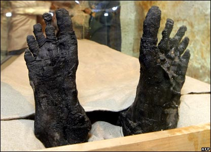 Feet of King Tutankhamun