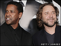 Denzel Washington and Russell Crowe