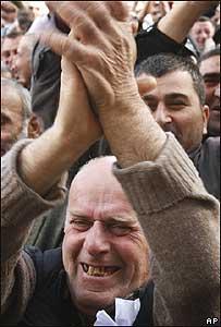 Участники акций протеста в Тбилиси