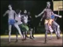 Zorba dancers pictured on YouTube