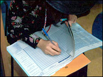 teacher taking register