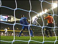Tottenham play Getafe in a recent Uefa Cup match at White Hart Lane