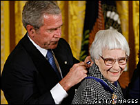 Harper Lee and President George W Bush