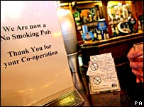 No Smoking sign in pub