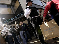 Shoppers outside the entrance of the Primark store on London's Oxford Street