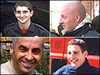 Clockwise from top left: Ashley Stephens, Darren Yates-Badley, John Averis and Ian Reid