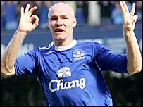 Everton striker Andrew Johnson