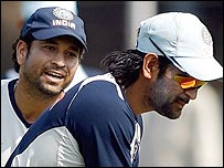 Sachin Tendulkar's decision to reject the captaincy opens the door for Mahendra Dhoni (right)