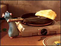 The character Remy from animated film Ratatouille