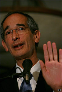 Guatemala's new President, Alvaro Colom, 5 November 2007