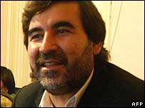 Afghan MP Mustafa Kazimi, pictured in April 2006