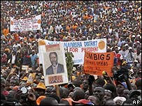 Crowds at ODM launch rally