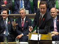 Mr Cameron responding to the Queen's Speech