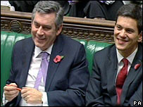 Gordon Brown and David Miliband