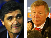 Juande Ramos and Sir Alex Ferguson