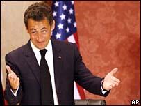 Nicolas Sarkozy in Washington
