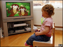 A child watching television