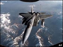 An F-15 jet