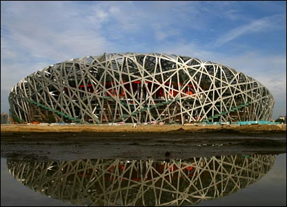 2008: Beijing's design has been likened to a bird cage and has been a difficult complex contruction for designers