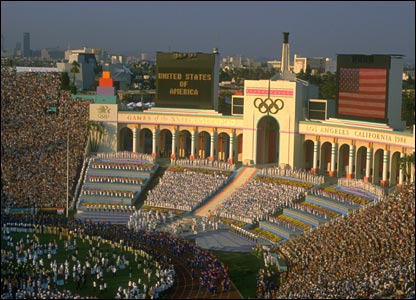 1984 Los Angeles: The Coliseum, originally built in the 1920s, staged the Olympics in both 1932 and 1984