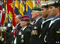 Veterans marking the 25th anniversary of the Falkland Islands' liberation in June