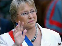 File photograph of Michelle Bachelet