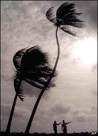 Hurac�n en Florida, EE.UU.