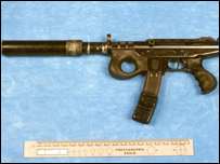 A Croatian made Agram submachine gun, which was seized in London