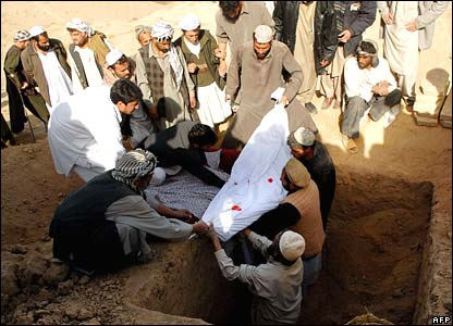 Grave in Baghlan province, 7 November 2007