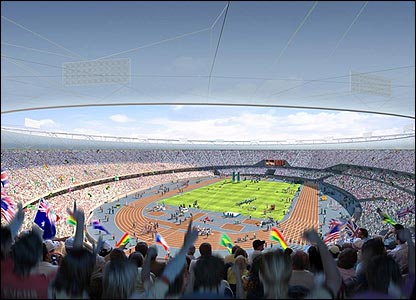 The interior of the London 2012 stadium design