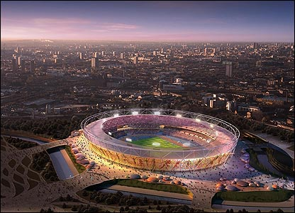 The design for London 2012's new stadium