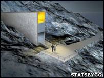 "Drawing of the ""doomsday"" vault"