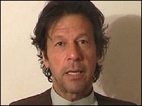 Imran Khan, speaking in a video from hiding