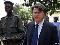 Gilbert Collard, French lawyer for charity Zoe's Ark in Ndjamena 07 Nov