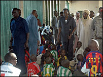 Chad's President Idriss Deby visited the orphans in Abeche Oct 07