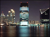 Vista nocturna de Dubai